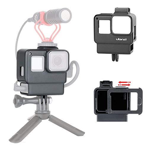 Ulanzi V2 Vlog Custodia Telaio Proteggi Custodia Compatibile per GoPro Hero 7 6 5 Action Camera con Microfono a Montaggio a Freddo
