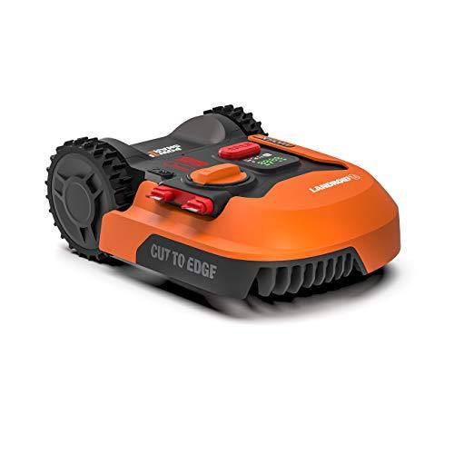 Worx Tagliaerba Robot da Giardino Landroid WR141E, Rasaerba Elettrico a Batteria 20 V, Tosaerba 3...