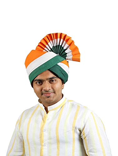 eKolhapuri Traditional Handstitched Ready To Wear Indian Tricolor Cotton Pheta (Turban Safa) for Men