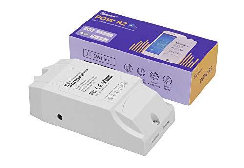 Sonoff Actualizado Pow Smart Switch con medición de consumo de energía Módulo inteligente de automatización del hogar Sincronización Sobrecarga WiFi Control remoto a través de iOS Android