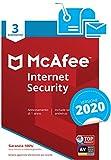 McAfee Internet Security 2020 | 3 Dispositivi | Abbonamento di 1 anno | PC/Mac/Smartphone/Tablet | Codice di attivazione via mail