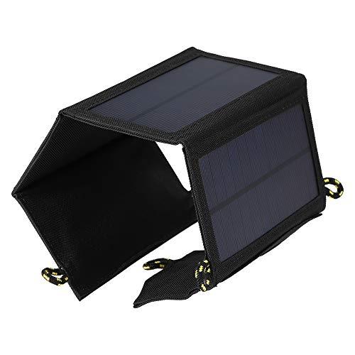 Lixada Pannelli Solari Portatili 7W Caricabatterie Solare Pieghevole Certificato Sun Power Panel...