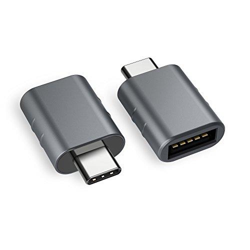 USB C Adapter auf USB 3.0[2 Stücke] OTG USB Typ C Adapter,Thunderbolt 3 to USB 3.1/3.0/2.0,Kompatibel mit Huawei Mate 20, MacBook Pro 2018/2017/Air 2018,Samsung Galaxy S9/Tab,Surface Go,Dell-MEHRWEG