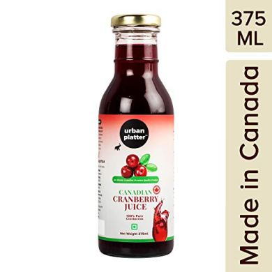 Urban Platter Canadian Cranberry Juice, 375ml [Premium Quality, Pure & Delicious, 100% Pure Cranberries] 2