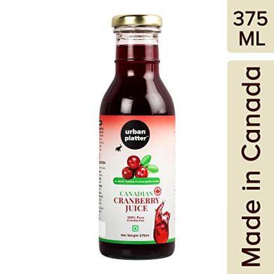 Urban Platter Canadian Cranberry Juice, 375ml [Premium Quality, Pure & Delicious, 100% Pure Cranberries] 22