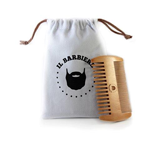 Pettine Barba In Legno Antistatico Per Barba Baffi