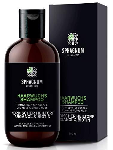 Haarausfall Shampoo mit Heiltorf, Argan Öl und Biotin - 100% frei von Sulfaten, Parabenen. Effektive Behandlung von dünnem & geschädigtem Haar. Das beste Frauen Shampoo für Haarwachstum