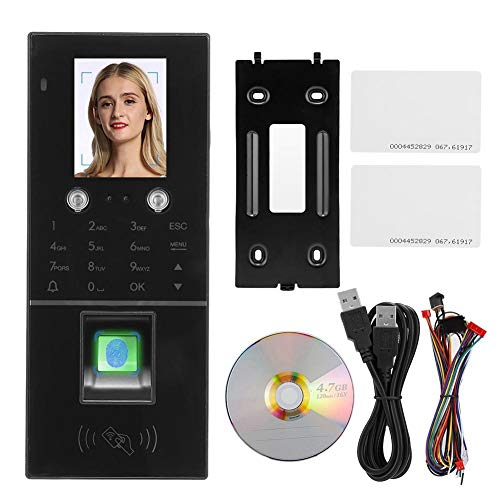 TCP IP Time Attendance Machine, Screen Access Control Attendance Dual Camera Access Control System with 3 Ways Authentication Methods, Fingerprint Face ID/IC Card Recognition for Office
