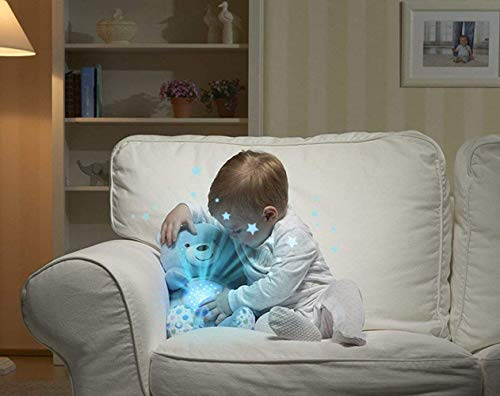 Kiddale Baby Sleep Projector with Star Lights & Music-(Bear with Sleep Soother with Beautiful Lights and Music -Blue