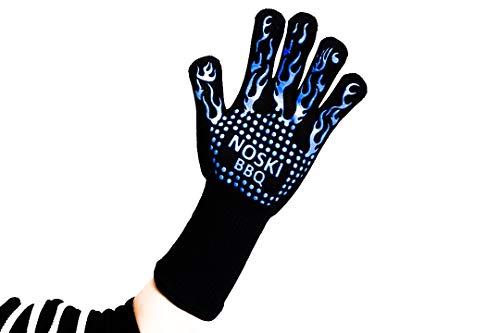 Noski Guanti da Ragazza BBQ Glove 35 cm/14 Pollici Lunghezza Estremamente Resistente al Calore Fino...