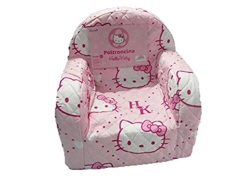 vivi casa POLTRONCINA Sedia Poltrona Sanrio Hello Kitty Colore Rosa Camera CAMERETTA