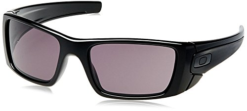 Oakley FUEL CELL, Gafas de sol Rectangulares para hombre, Negro (Polished Black Frame/Warm Grey Lens), 60