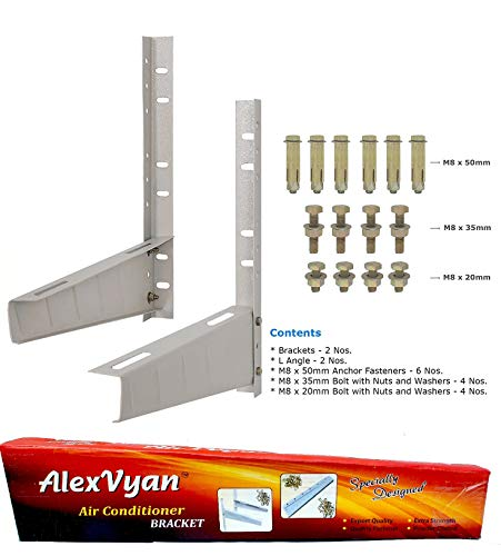 Alexvyan Iron Split AC Wall Mounting Bracket