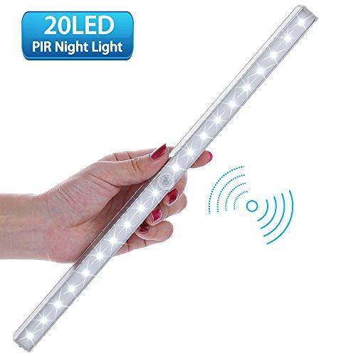 LOFTer Luce Wireless a 20 LED con Sensore, Alimentata a Batterie (non incluse), 3 Modalit¨¤, Luce...