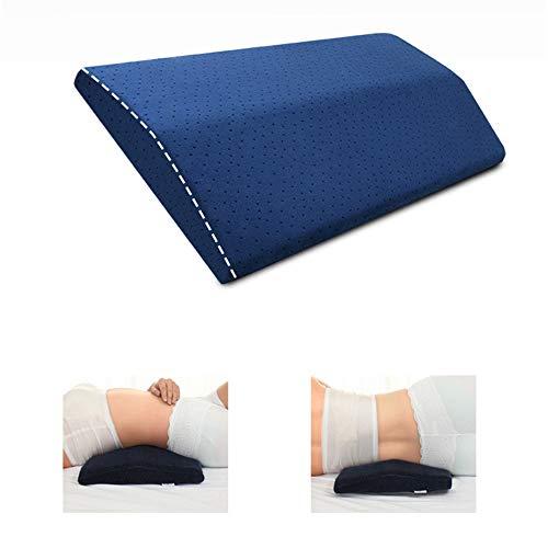 W&P Lendenkissen Keilkissen Orthopädisches Schlafkissen Lordosenstütze Bett Kissen aus Memory Schaum für Ischias Schwangerschaft Hüfte- oder Beinschmerzen, 28x60cm