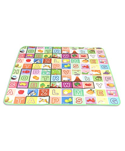 KWT Double Sided Water Proof Baby Mat Carpet Baby Crawl Play Mat Kids Infant Crawling Play Mat Carpet Baby Gym Water Resistant Baby Play & Crawl Mat(Large Size - 5 Feet X 6 Feet)