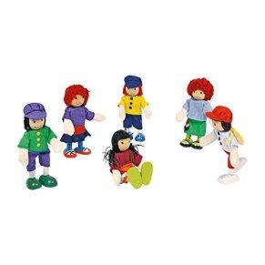 small foot company 2955 - Figuras Articuladas de Madera (6 Unidades)