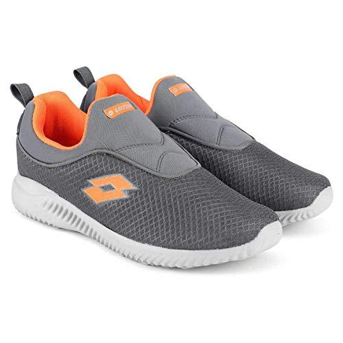 Lotto Amedio Men's Running Shoes (8, Black/Orange)