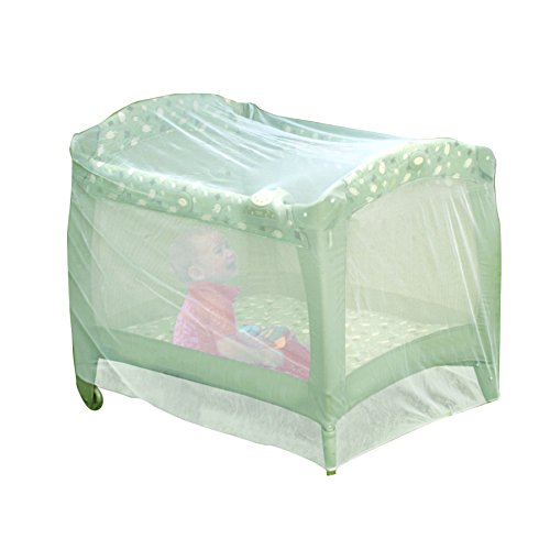 Nuby Pack N Play Universal Size Mosquito Net Tent, White