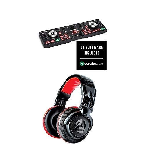 Numark Bundle - Console DJ Compatta a Due Deck, Cuffie DJ con Filo e Serato DJ Lite - Numark DJ2GO2 Touch + Red Wave Carbon