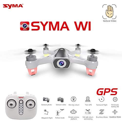 Syma W1 GPS Drone con 5G WiFi FPV 1080P Telecamera Brushless Quadcopter Gesture Control Pieghevole Mini Dron vs Visuo XS812