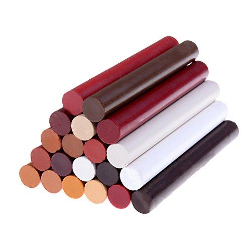 Kit di riparazione per 20pezzi crayon pavimento in legno mobili, pennarelli pastello a cera filler...