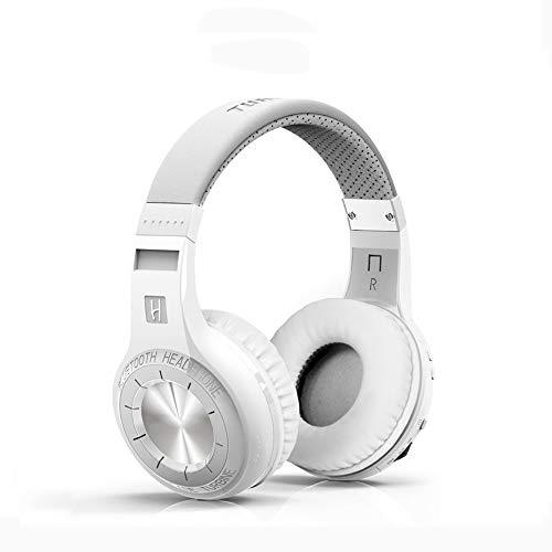 Auriculares HT Bluetooth Activa Reducción De Ruido Auriculares Música De Doble Oído Auriculares De Alta Fidelidad Plegable Auricular Y Micrófono Blanco Y Negro Están Disponibles Para La Selección,White