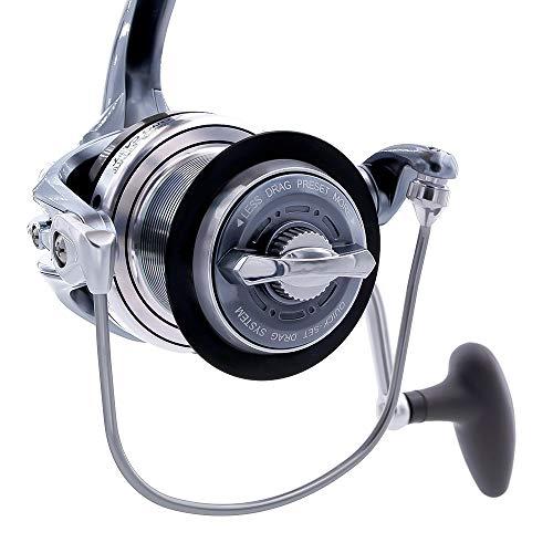 TICA Galant Long Cast GBAT 8000 con Click di Avviso per Uno Strike Immediato, Mulinello Pesca, Alluminio e Grigio Metallizzato