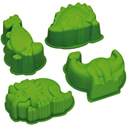 Kitchen Craft Let's Make Kitsch n Fun - Moldes de silicona con forma de dinosaurios