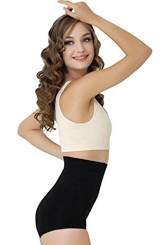 Formeasy Damen Figurformende Wäsche - Bauchweg Miederslip - Shapewear, Bauch-Weg Slip, Formslip ohne Bein Taillenslip Bauch Weg Unterhose (XL, Schwarz)