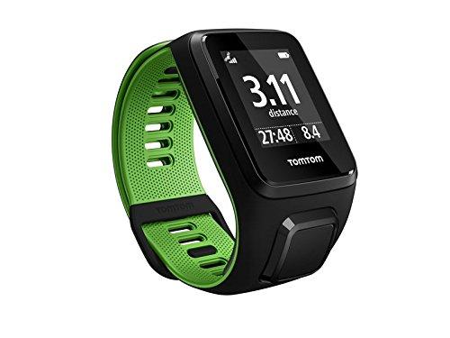TomTom Runner 3 Cardio, Reloj cardio, Negro/Verde, L (Grande)