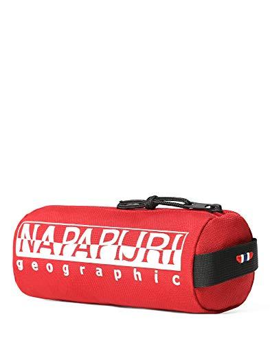 Napapijri Happy Pencil Case 1 Astuccio, 0 cm, Red Scarlet (Rosso) - N0YI0I