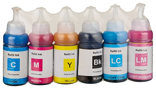 COMPATIBLE DYE INK FOR EPSON L800 , L805 , L850 PRINTER PACK OF 6 ...
