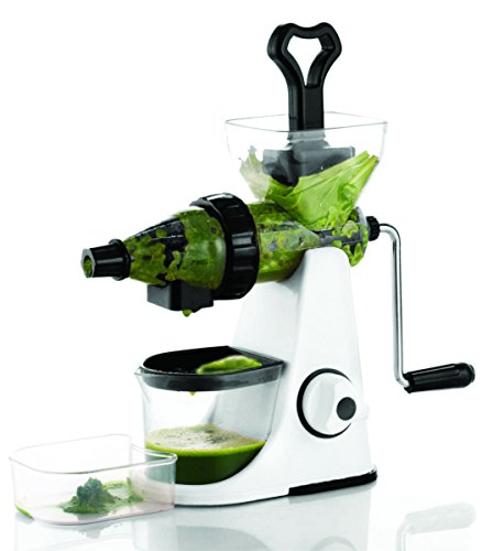 BMS Lifestyle Black & White Series Manual Hand Crank Nutritious Healthy Slow Juicer
