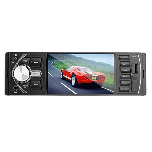 BESTVECH in-Dash Bluetooth Car Audio MP5 Player FM Radio Head Unit USB/AUX Without GPS Navigation or Mobile Connection, 4.1-inch