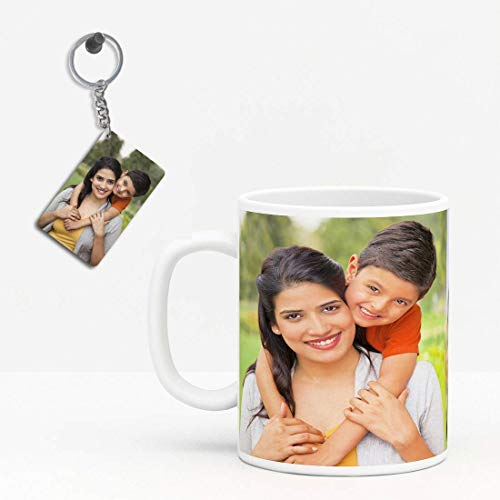 Funkybaba Customised Mugs for Coffee - Personalized Gift Mugs with Photo - Personalized Gift - Coffee Mugs - Customized Mugs with Photo - White Ceramic Mugs