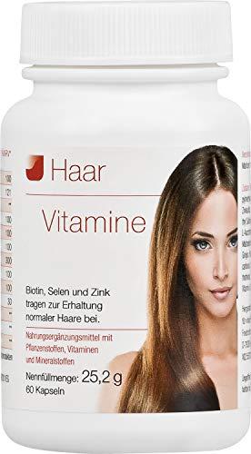 Vihado Haar-Vitamine - intensiv Vitalformel, Biotin + Selen + Zink, 60 Kapseln, 1er Pack (1 x 25,2 g)