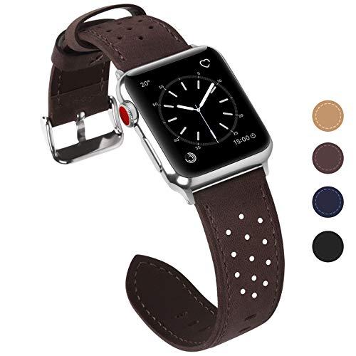 Fullmosa Compatibile Cinturino Apple Watch,Cinturino Apple Watch 42 mm e 38 mm,Breeze Cinturino per Iwatch Serie 5 4 3 2 1 Hermers e Nike+Edizione,42mm Caffe