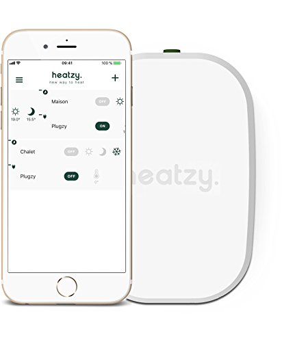 HEATZY Flam Thermostat pour Chauffage Central, Blanc