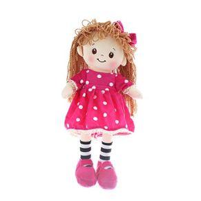 Muñeca Trapo Peluche Chica Rellenas Vestido de Lunares