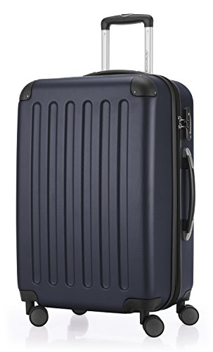 HAUPTSTADTKOFFER - Spree - 3er Koffer-Set Trolley-Set Rollkoffer Reisekoffer Erweiterbar, TSA, 4 Rollen, (S, M & L), Dunkelblau - 3