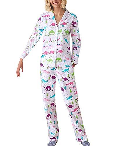 Pijama de la Familia, otoño Invierno Madre Hija Pijama Estampado de Dinosaurio Lindo Ropa de la Familia Conjunto Traje de Desgaste de Ocio