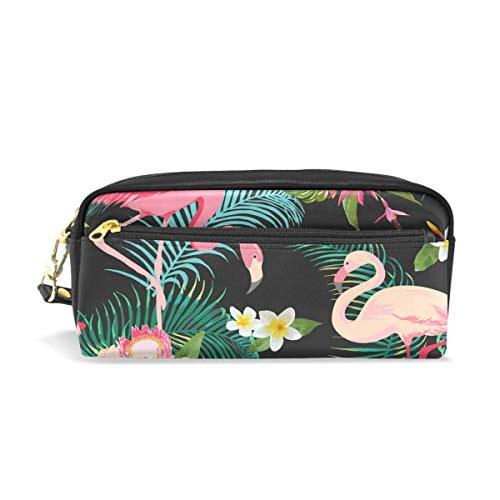 WowPrint, astuccio multifunzione con fenicottero rosa tropicale, grande capacità, con cerniera, in...