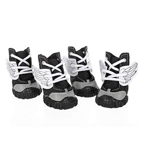 Feidaeu Calzados para Mascotas Acolchado de algodón Dos Colores Vendas Protección de Pata cómoda y Resistente al Desgaste para los Perritos pequeños Zapatos
