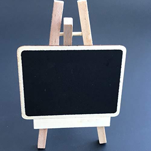 10PCS a forma di cuore in legno Message Board verticale piccola lavagna 8x6x0.25cm Nero