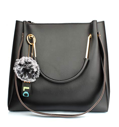 Mammon Women's stylish black Handbags (LR-bib-blk)