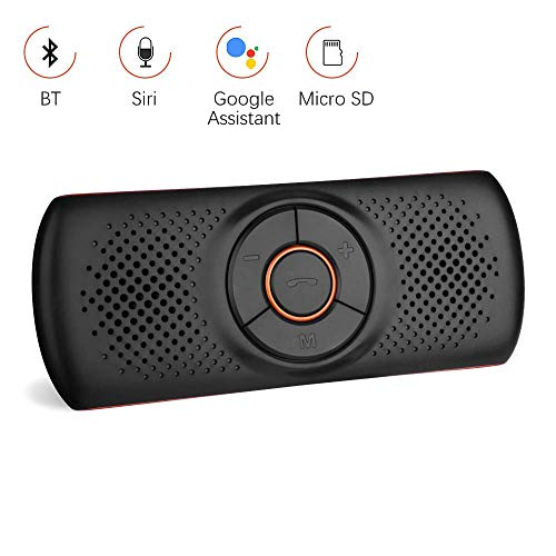 Aigoss Vivavoce Bluetooth 4.2 per Auto con Siri e Google Voice Commands Assistant, Kit per Auto...