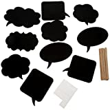 DIKETE® 10pcs Photo Booth Props [Chalkboard Speech Bubble] DIY Panel Hen Party Photography Accessories Wedding Baby Kids Children Newborn Christmas Birthday Decor Mask