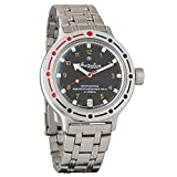 Vostok Amphibia New 420270/2416b Russian Military Divers Automatic Mens Watch 200m