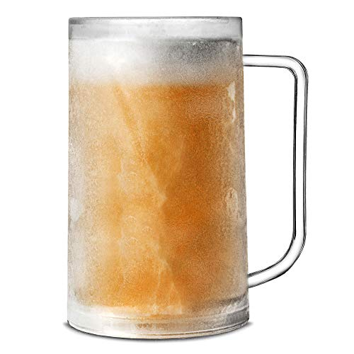 Frosty Mug 14,1 oz/400ml da bar@drinkstuff | Plastica Congelatore Tazza, tazza di birra, birra Stein, Birra Boccale | Freezable Beer Tankard